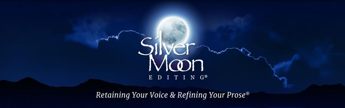 Home page banner for Silver Moon Editing